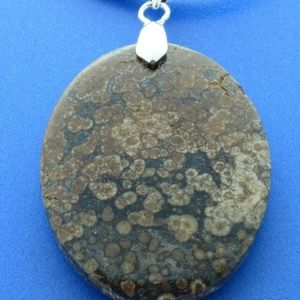 Turtle Jasper Shaman Necklace Leather Braid Cord